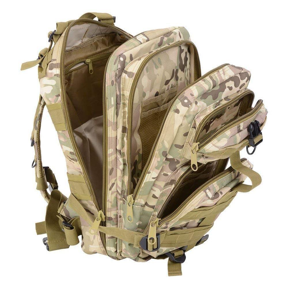 Waterproof Tactical Hiking Backpack, Outdoor 30L Military Rucksacks 12