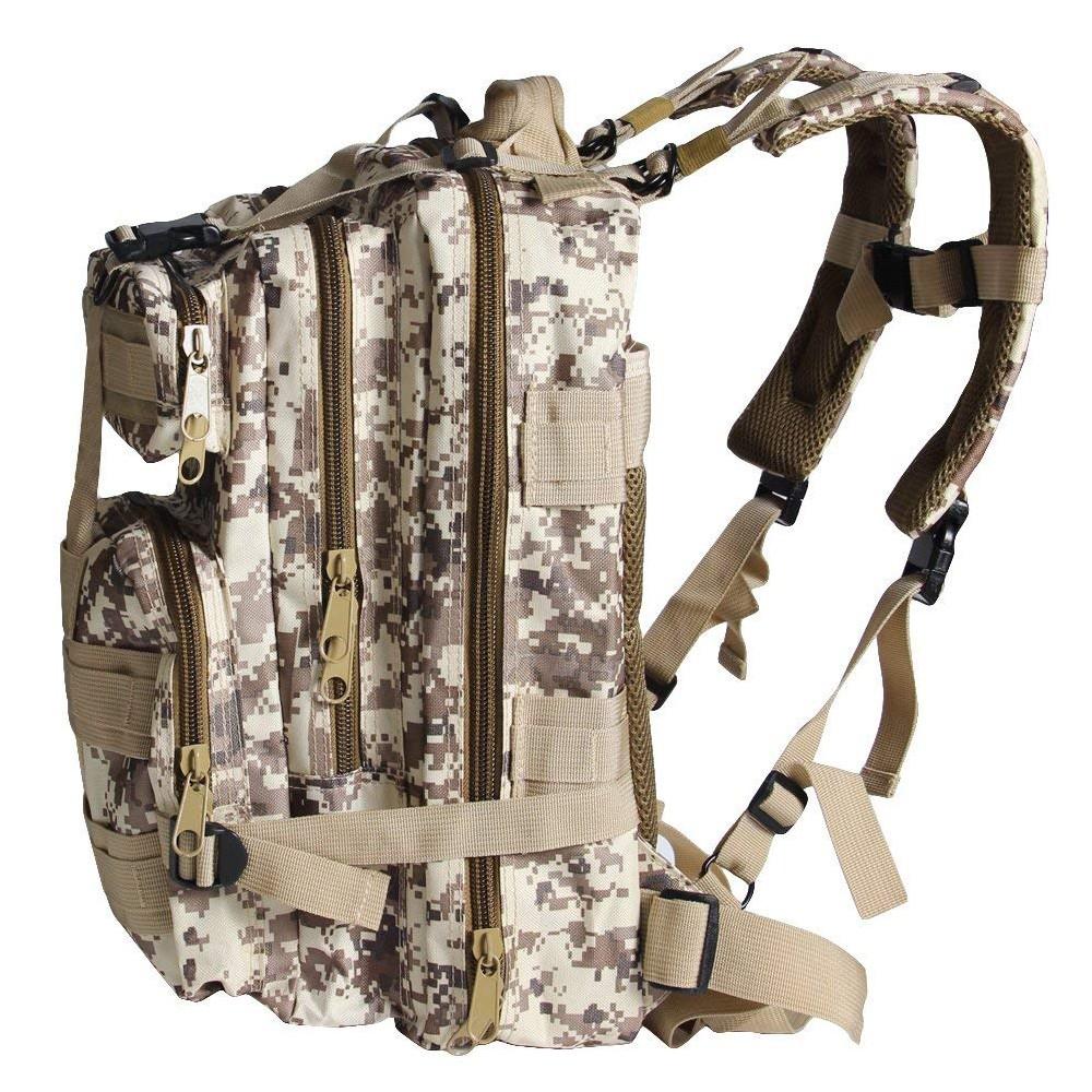 Waterproof Tactical Hiking Backpack, Outdoor 30L Military Rucksacks 7