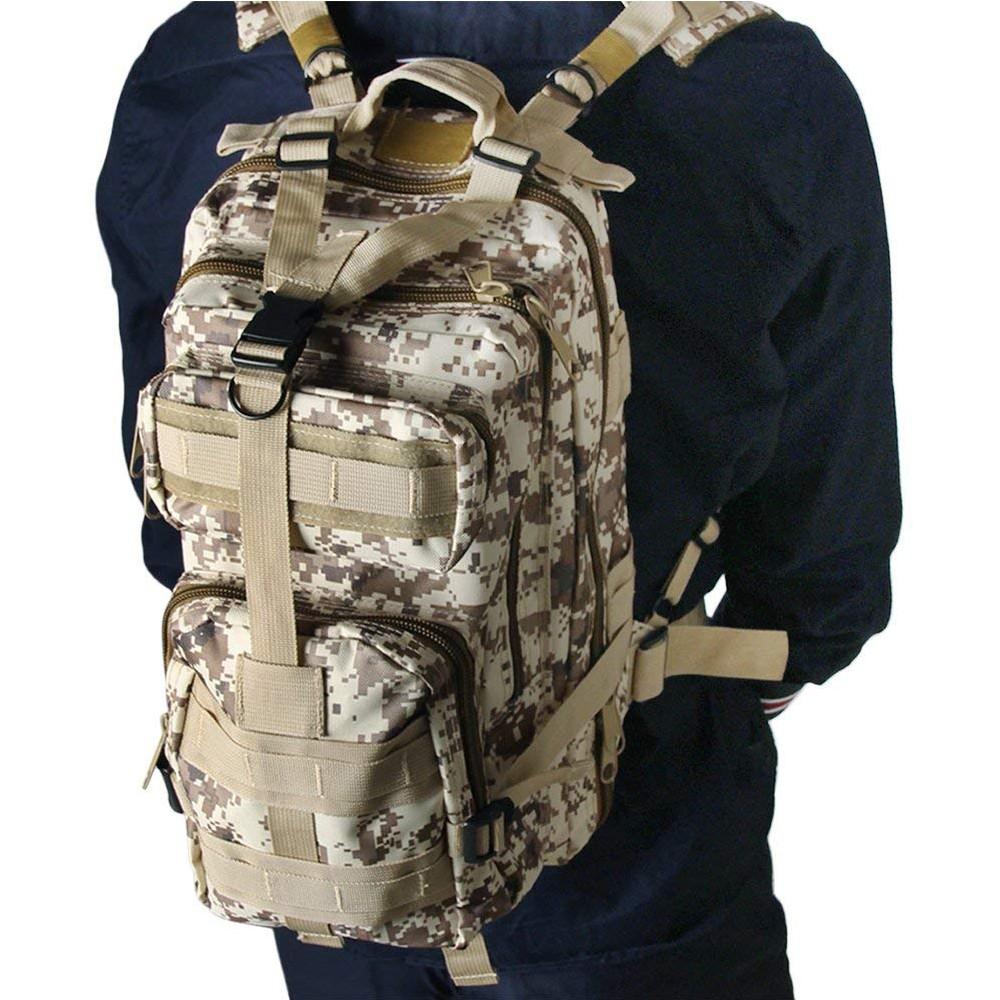 Waterproof Tactical Hiking Backpack, Outdoor 30L Military Rucksacks 9