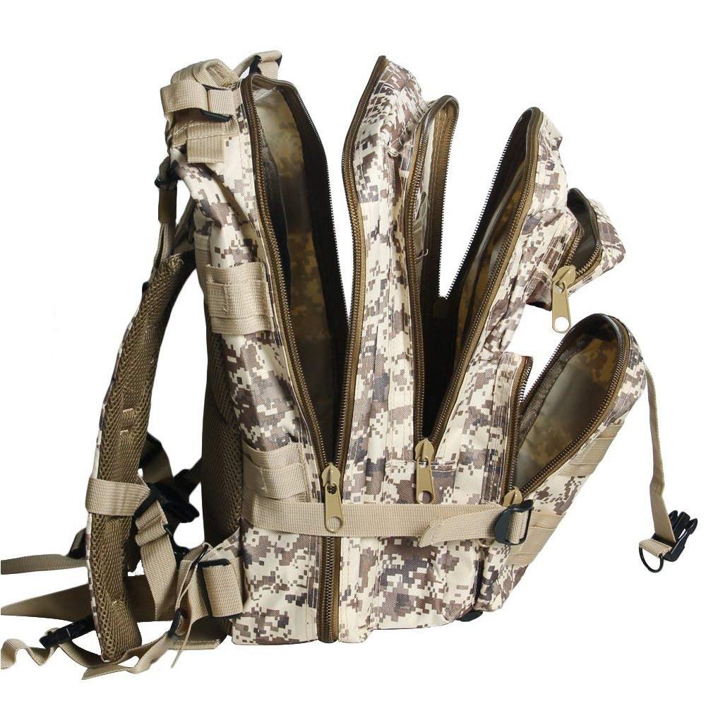 Waterproof Tactical Hiking Backpack, Outdoor 30L Military Rucksacks 8