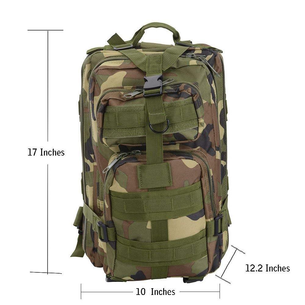 Waterproof Tactical Hiking Backpack, Outdoor 30L Military Rucksacks 5