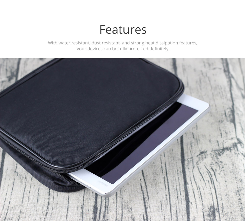 Tablets Accessories Black Case Cover for 7-9 inch iPad, Large Capacity Durable Hand Bag Briefcase Compatible for iPad Mini 4, iPad Mini 3, iPad Mini 2 7