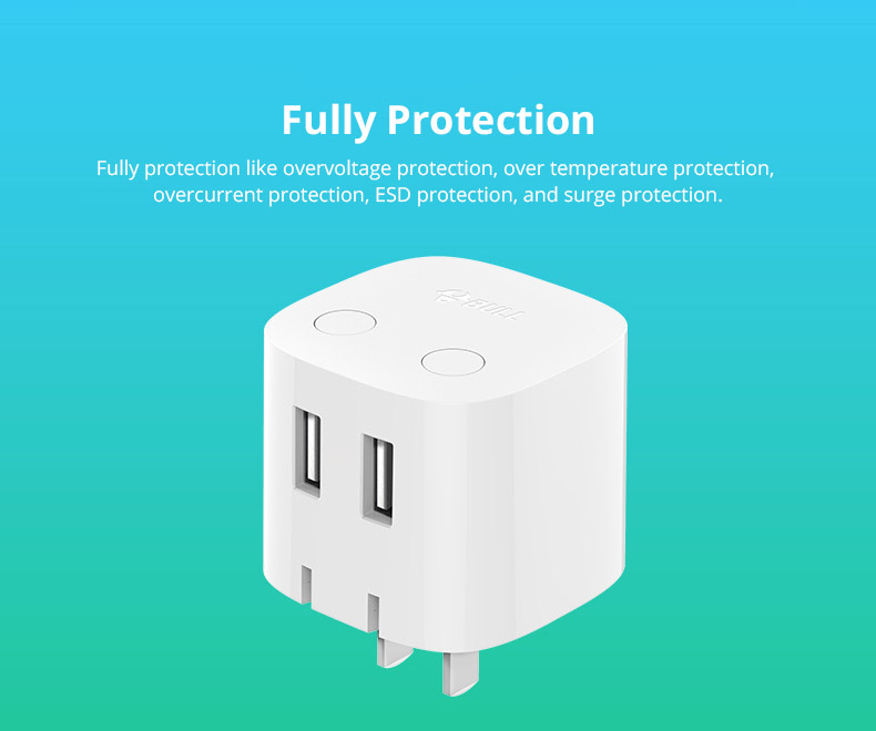 Universal Auto Power Off Quick Charger Plug for iPad Samsung Galaxy Tab, Practical USB Charger Adapter Compatible for iPhone & Android Devices 14