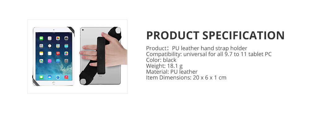 Universal PU Leather Hand Strap Holder for Phones Tablets, 360 Degrees Swivel Leather Handle Grip with Elastic Belt for 9.7 inches Pad and 10.1 inches iPad or Android devices 16