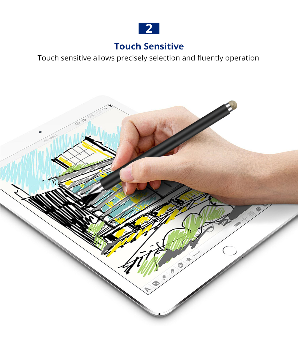 Laptop Cellphone Universal 2 in 1 Stylus Compatible for Kindle Touch ipad iphone 8/6s 8Plus Samsung S5 S6 S7 Edge S8 Plus iPad Pro IOS Android Note Screen Touch Sensitive 8