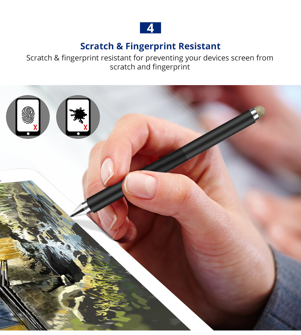 Laptop Cellphone Universal 2 in 1 Stylus Compatible for Kindle Touch ipad iphone 8/6s 8Plus Samsung S5 S6 S7 Edge S8 Plus iPad Pro IOS Android Note Screen Touch Sensitive 10