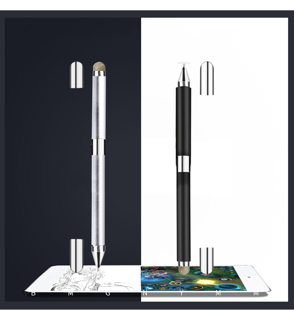 Laptop Cellphone Universal 2 in 1 Stylus Compatible for Kindle Touch ipad iphone 8/6s 8Plus Samsung S5 S6 S7 Edge S8 Plus iPad Pro IOS Android Note Screen Touch Sensitive 12