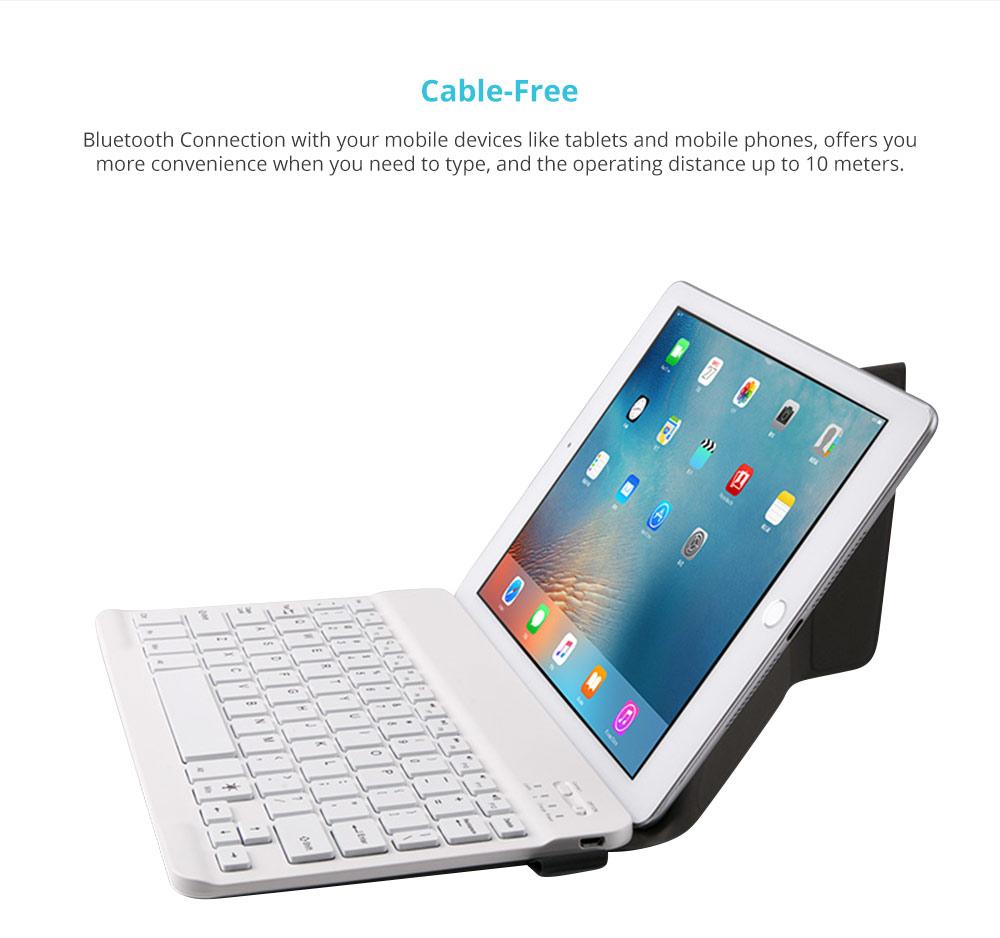 Universal Ultra-thin Bluetooth Keyboard Portable Wireless Bluetooth Keyboard forApple iPad Air 3/2/1, iPad Pro, iPad Mini 4/3/2/1, iPad 4/ 3/ 2, iPhone, Windows and Mac Computers, Android and iOS Tablets and Smartphones Available 6