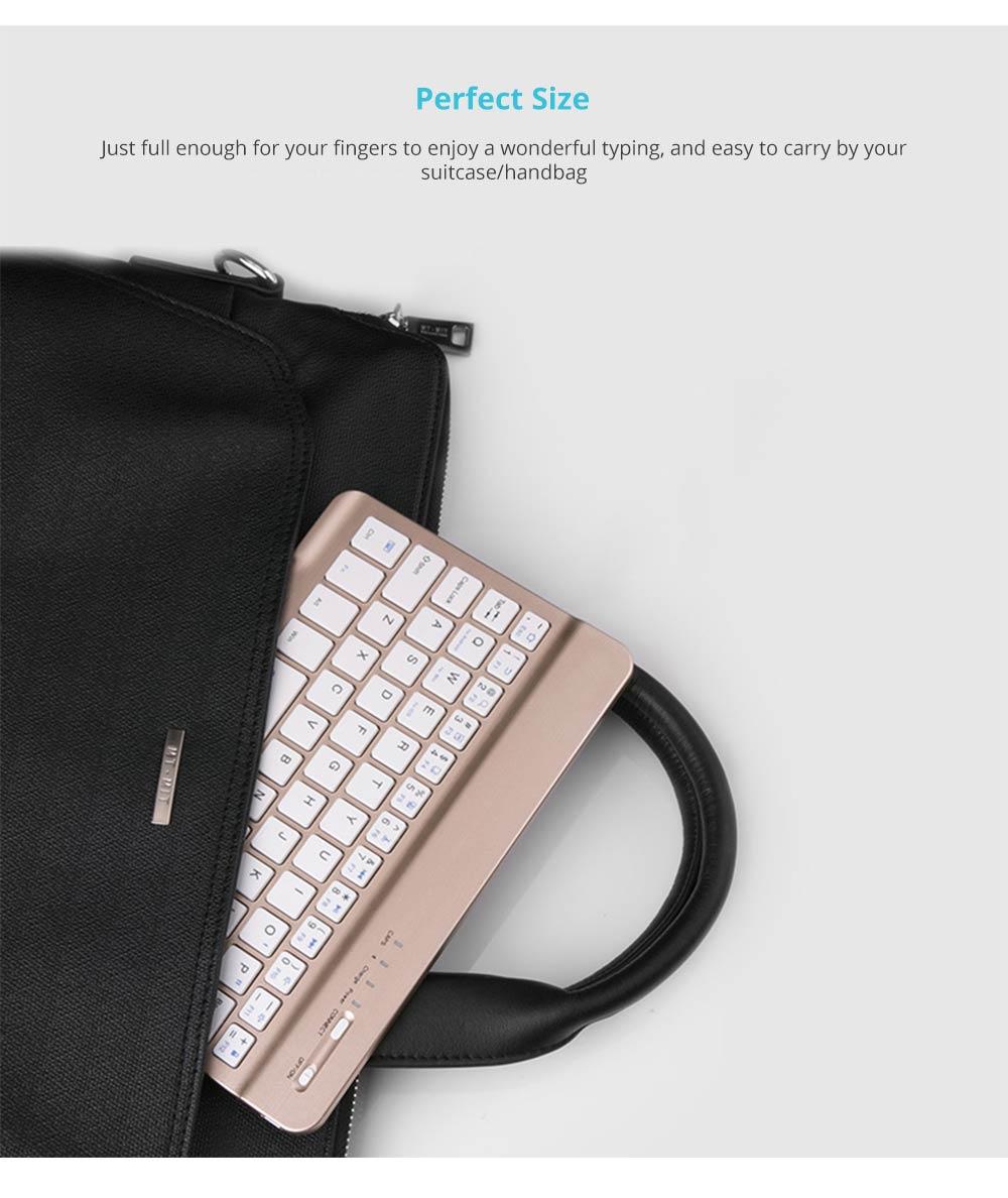Universal Ultra-thin Bluetooth Keyboard Portable Wireless Bluetooth Keyboard forApple iPad Air 3/2/1, iPad Pro, iPad Mini 4/3/2/1, iPad 4/ 3/ 2, iPhone, Windows and Mac Computers, Android and iOS Tablets and Smartphones Available 11
