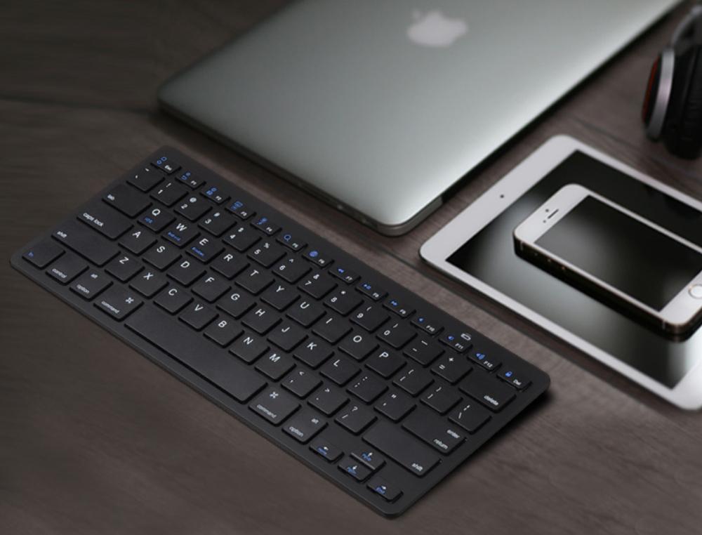 Universal Ultra-slim Bluetooth Keyboard Portable Wireless Bluetooth Keyboard forApple iPad Air 3/2/1, iPad Pro, iPad Mini 4/3/2/1, iPad 4/ 3/ 2, iPhone, Windows and Mac Computers, Android and iOS Tablets and Smartphones Available 11