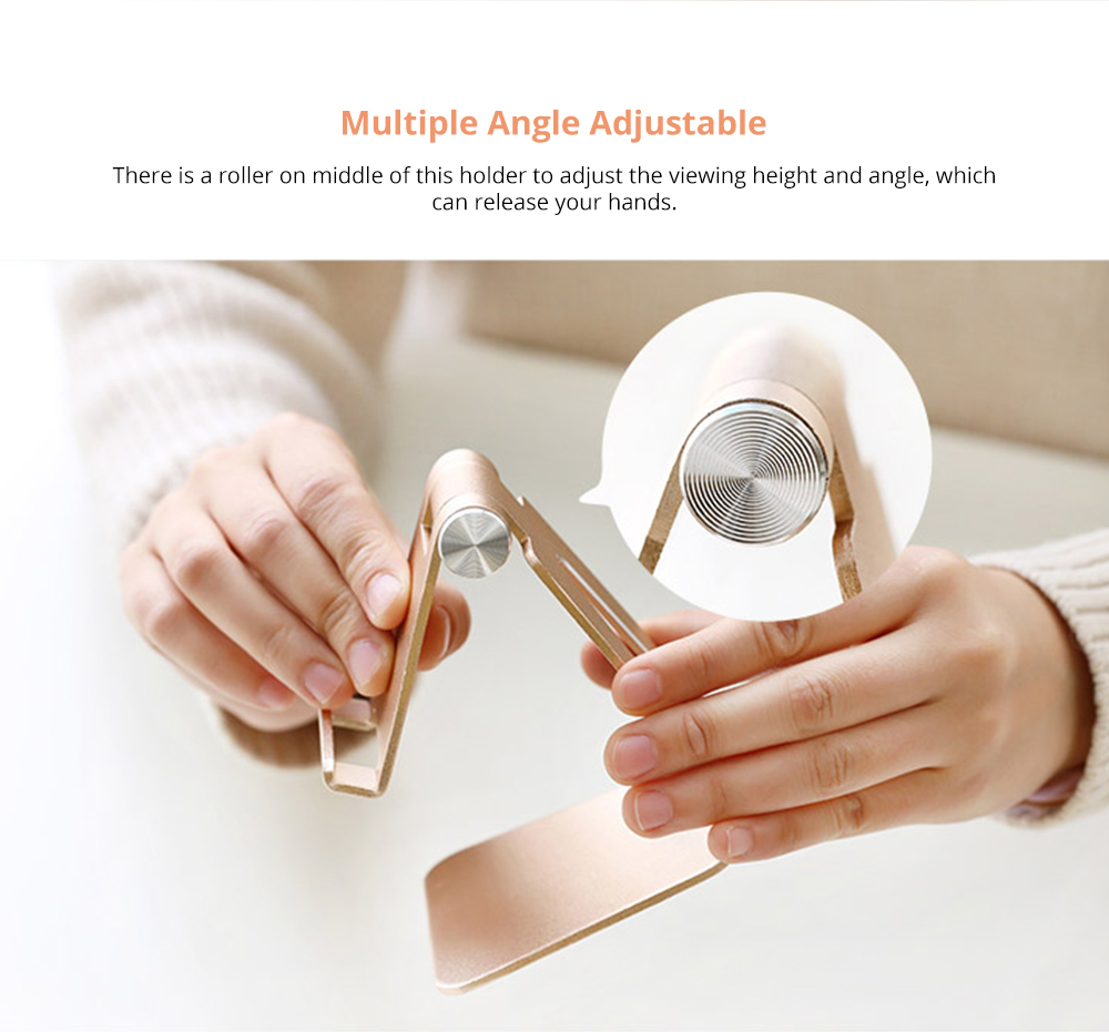 Stylish Adjustable Multi-angle Stand Compatible with iPhone iPad Kindle Android Device 4 inch to 10 inch Universal Hand Free Desktop Stand  6
