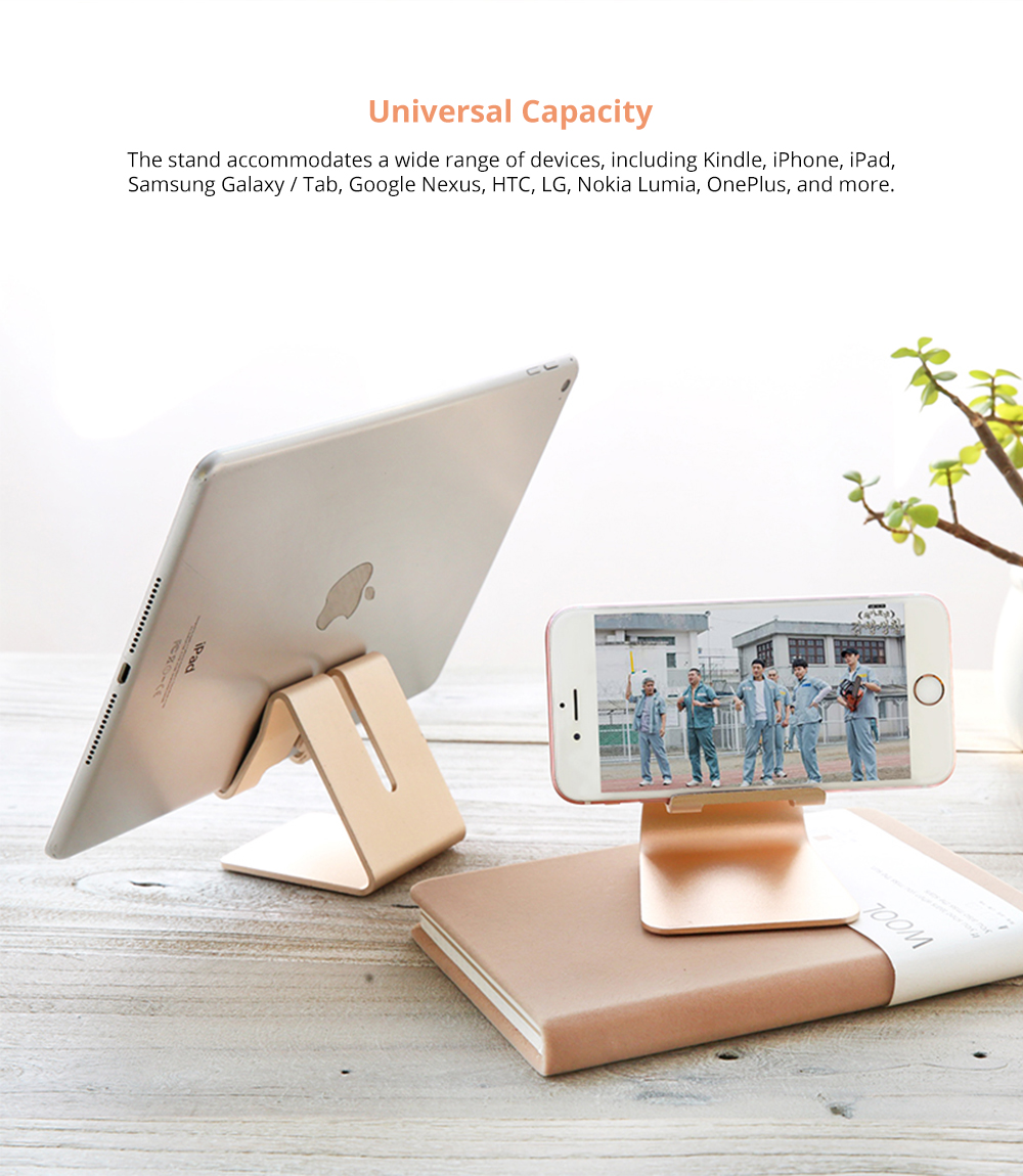 Stylish Adjustable Multi-angle Stand Compatible with iPhone iPad Kindle Android Device 4 inch to 10 inch Universal Hand Free Desktop Stand  7