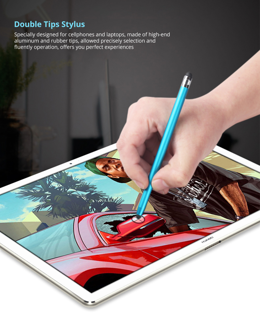 Laptop Cellphone Universal Stylus Compatible for Kindle Touch ipad iphone 6/6s 6Plus 6s Plus Samsung S5 S6 S7 Edge S8 Plus iPad Pro Note Screen Touch Sensitive 5