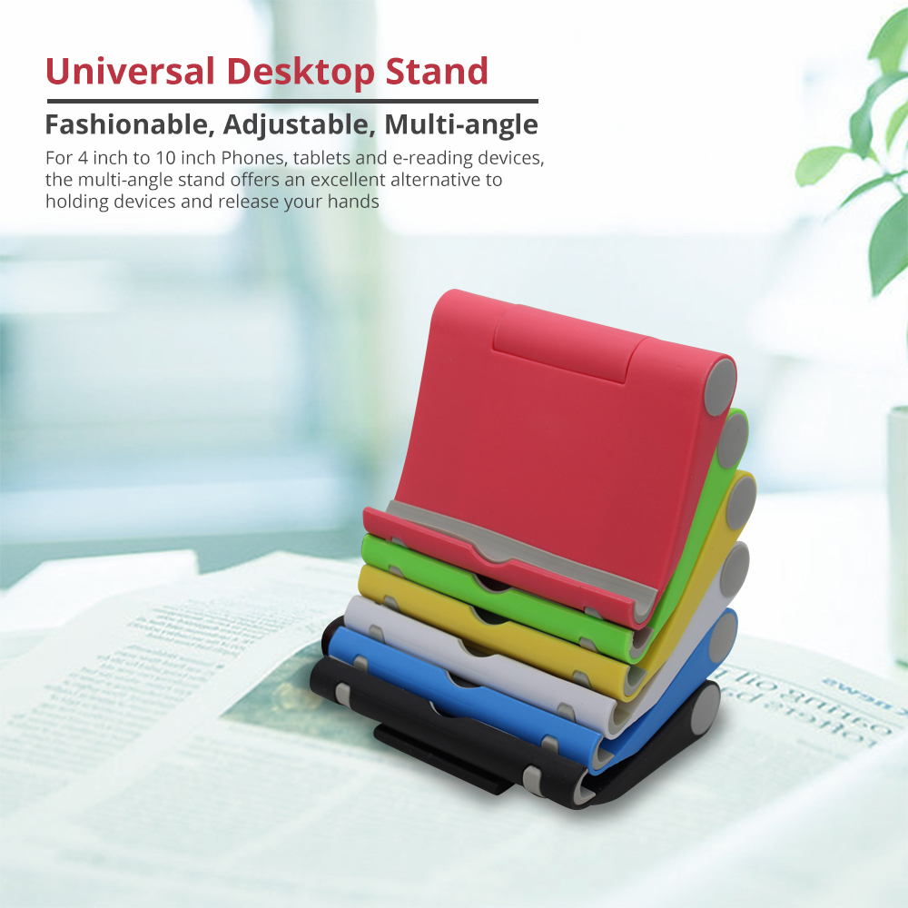 Phone Accessories Universal Adjustable Desktop Stand Compatible with 4--10 inch iPhone X/XS, iPhone 8/8Plus Tablets Kindle Android Multi-angle Phone Tablet Holder 5