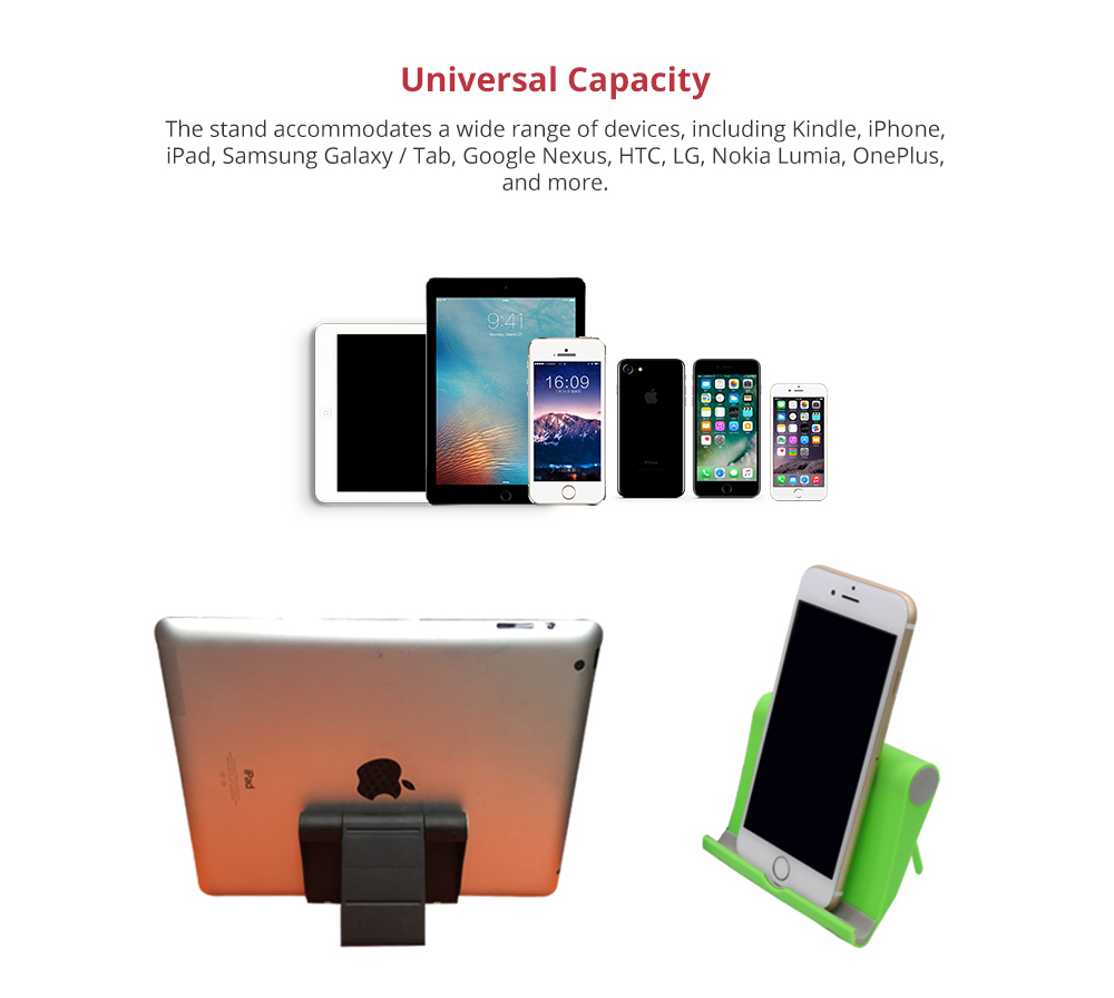Phone Accessories Universal Adjustable Desktop Stand Compatible with 4--10 inch iPhone X/XS, iPhone 8/8Plus Tablets Kindle Android Multi-angle Phone Tablet Holder 7