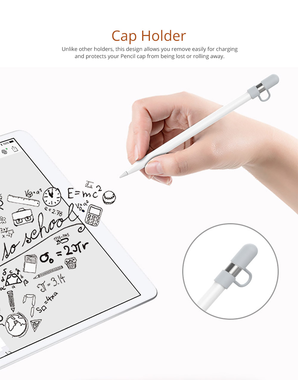 Fashionable Silicone Stylus Cover, Premium Soft Case for Apple Pencil 9.7/12.9/10.5 inch iPad Pro Protective Apple Pencil Sleeve Holder 8