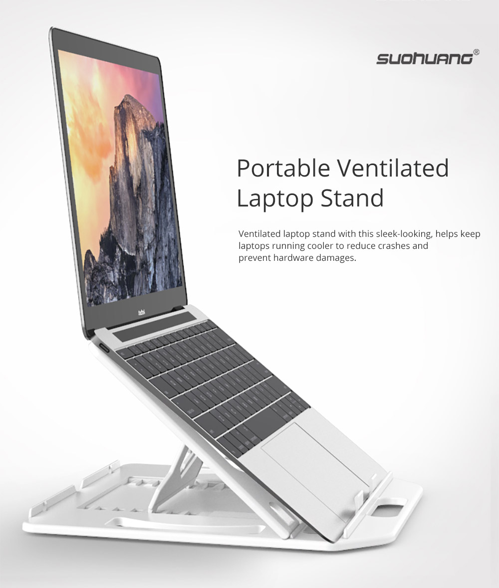 Ultra-slim Portable Laptop Holder, Durable Foldable Adjustable Laptop Stand Compatoble with Kindle, iPad Mini/Air/Pro, MacBook Air/Pro, Dell XPS, Samsung, HP and More 6