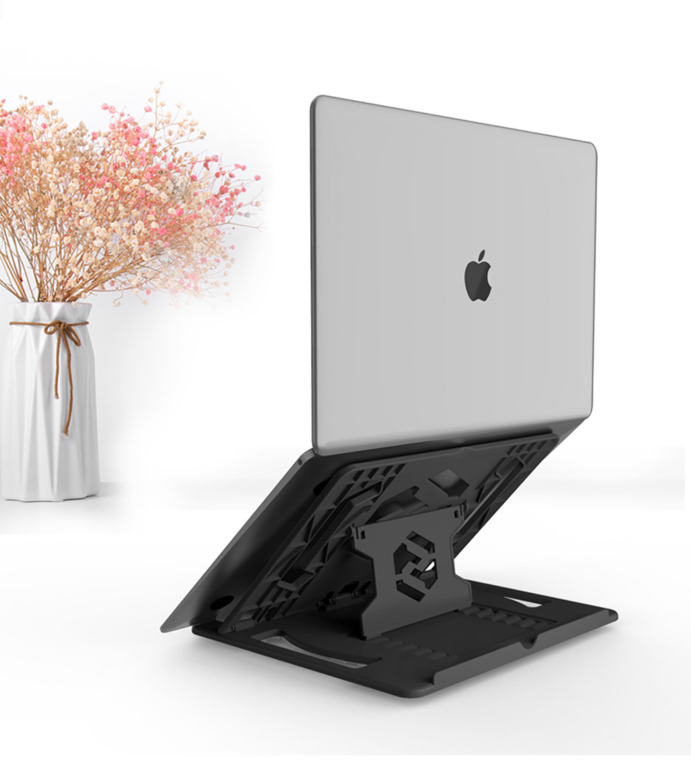 Ultra-slim Portable Laptop Holder, Durable Foldable Adjustable Laptop Stand Compatoble with Kindle, iPad Mini/Air/Pro, MacBook Air/Pro, Dell XPS, Samsung, HP and More 13
