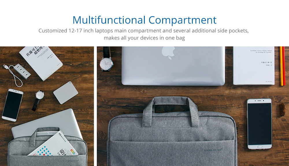 Laptop Accessories Retro 12-17 inch Case Cover, Durable Universal Hand Bag Briefcase for Macbook Air, Macbook Pro or other Laptops Shoulder Bag 8