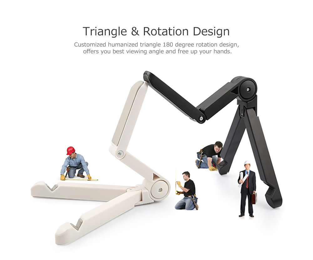 Adjustable Triangle Cellphone Tablet Holder, Foldable Multi-angle Stand for Tablet, iPad Mini, iPad Pro, iPad Air, Kindle, Phone X/XS/MAX 8/Plus, Galaxy S9/S9 Plus/S8/S7 7