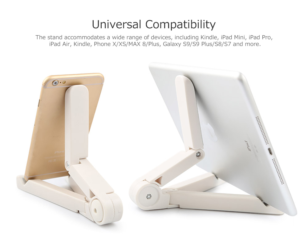 Adjustable Triangle Cellphone Tablet Holder, Foldable Multi-angle Stand for Tablet, iPad Mini, iPad Pro, iPad Air, Kindle, Phone X/XS/MAX 8/Plus, Galaxy S9/S9 Plus/S8/S7 8