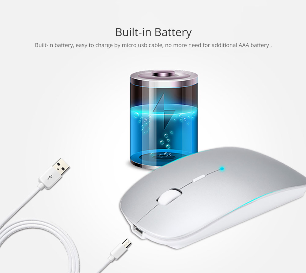 Laptop Accessories Portable Rechargeable Wireless Mouse, Lightweight Slim Bluetooth Mice for Notebook, PC, Laptop, Computer,Windows/Android Tablet, MacBook Air 6