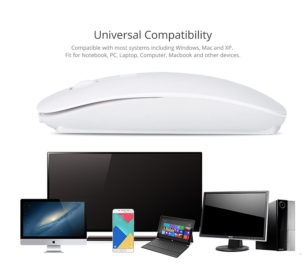Laptop Accessories Portable Rechargeable Wireless Mouse, Lightweight Slim Bluetooth Mice for Notebook, PC, Laptop, Computer,Windows/Android Tablet, MacBook Air 7