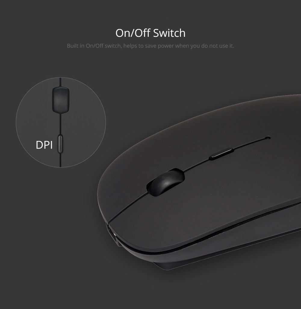 Laptop Accessories Portable Rechargeable Wireless Mouse, Lightweight Slim Bluetooth Mice for Notebook, PC, Laptop, Computer,Windows/Android Tablet, MacBook Air 10