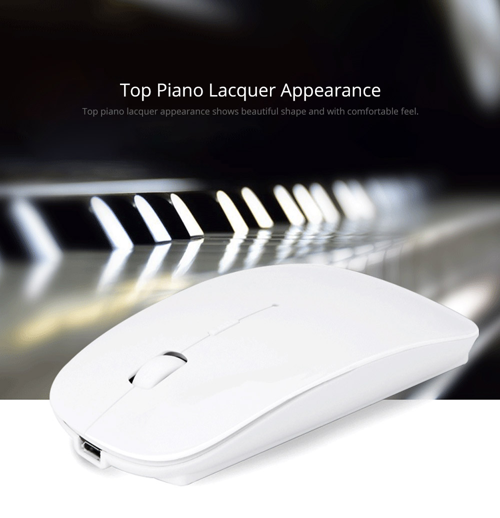 Laptop Accessories Portable Rechargeable Wireless Mouse, Lightweight Slim Bluetooth Mice for Notebook, PC, Laptop, Computer,Windows/Android Tablet, MacBook Air 11