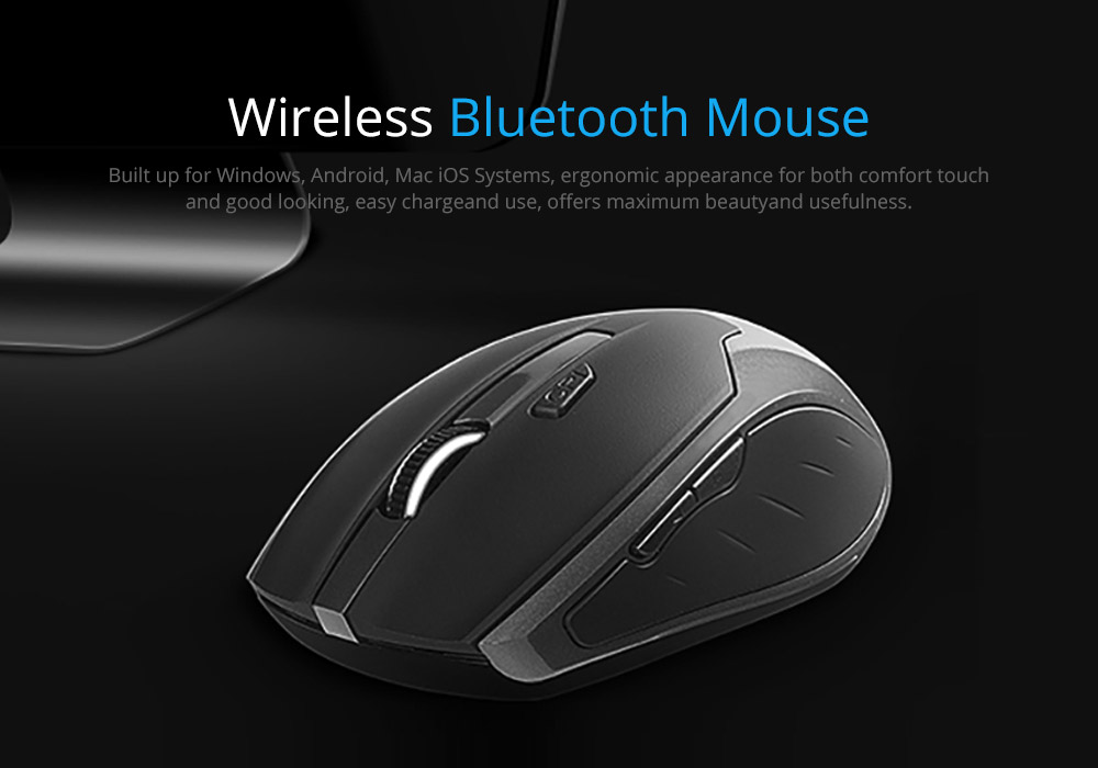 Laptop Accessories Noiseproof Portable Lightweight Wireless Mice, Rechargeable Mobile Optional Bluetooth Mouse for Windows, Android Mac iOS Systems 6