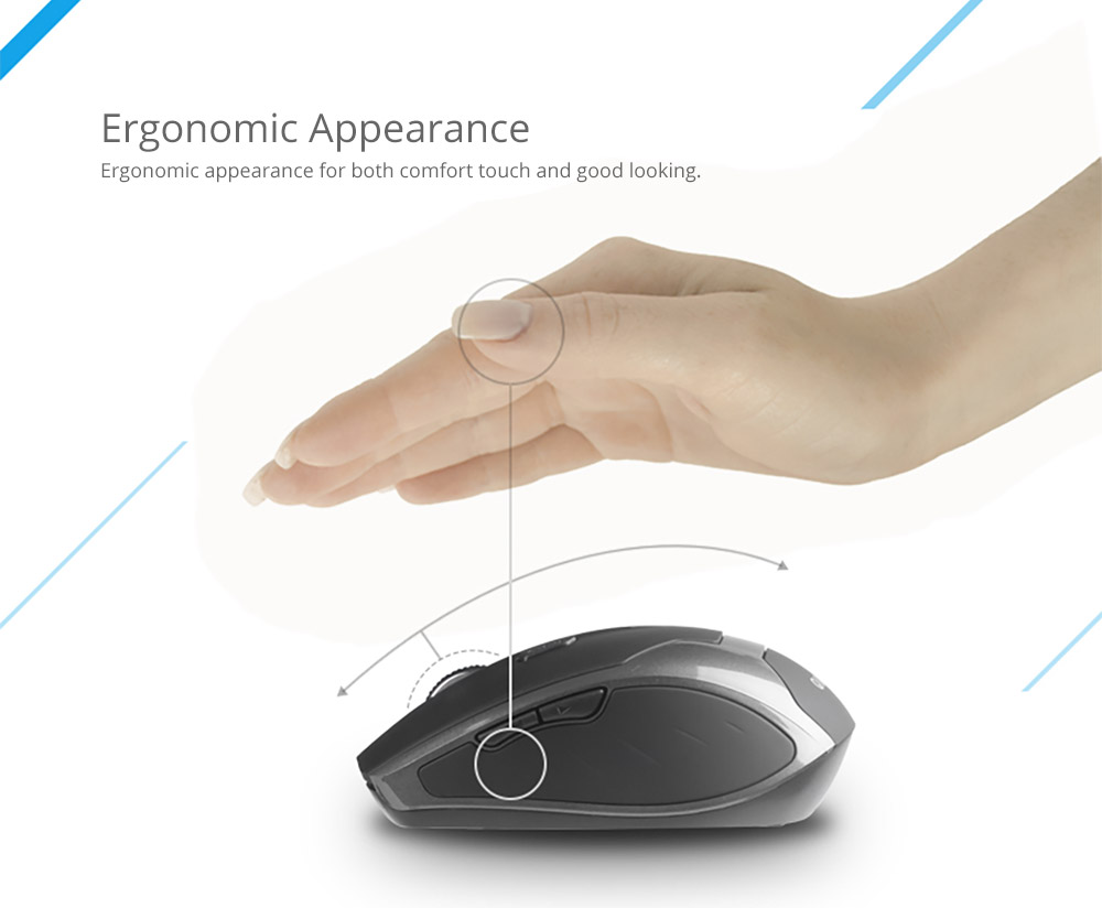 Laptop Accessories Noiseproof Portable Lightweight Wireless Mice, Rechargeable Mobile Optional Bluetooth Mouse for Windows, Android Mac iOS Systems 14
