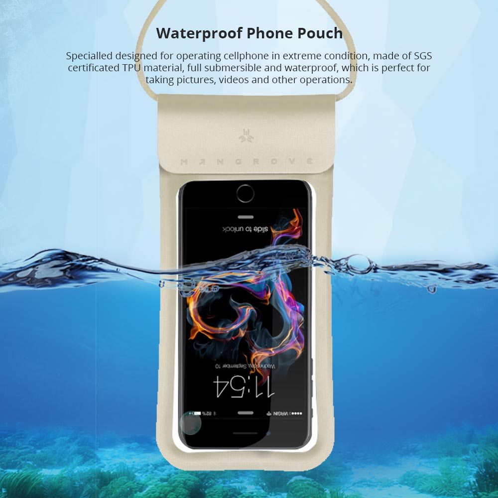 Universal Waterproof Smartphone Case with Lanyard, Water Resistant Float Phone Pouch Cover Holder for iPhone Samsung Google 4-6 inch Cellphones 6