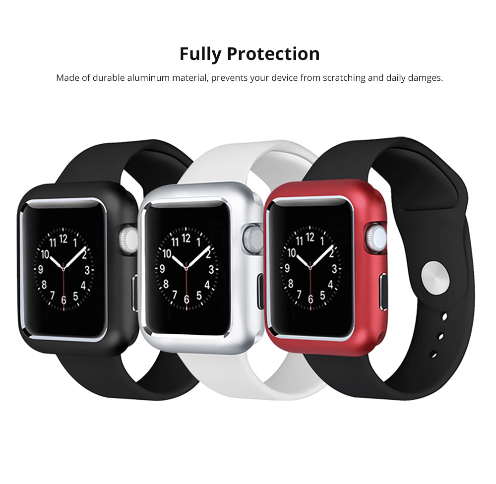 Premium Aluminum Protective Case Compatible with Apple iWatch, Hard Shell Anti-impact Anti-Scratch Cover for Apple iWatch 6