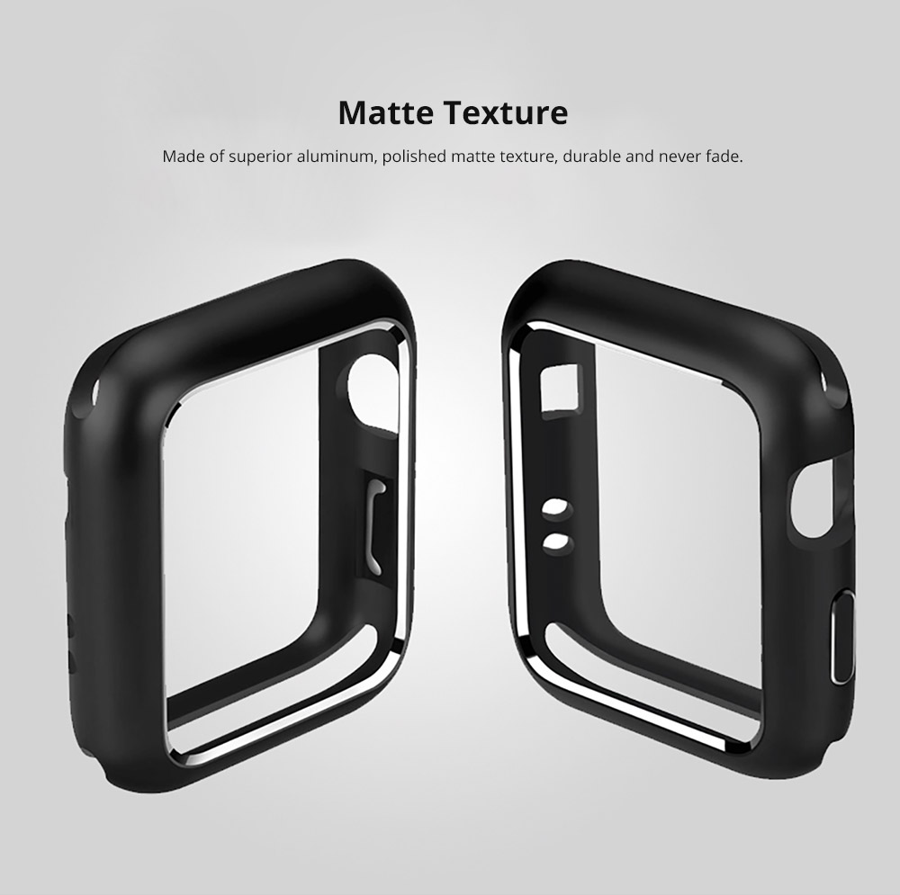 Premium Aluminum Protective Case Compatible with Apple iWatch, Hard Shell Anti-impact Anti-Scratch Cover for Apple iWatch 7