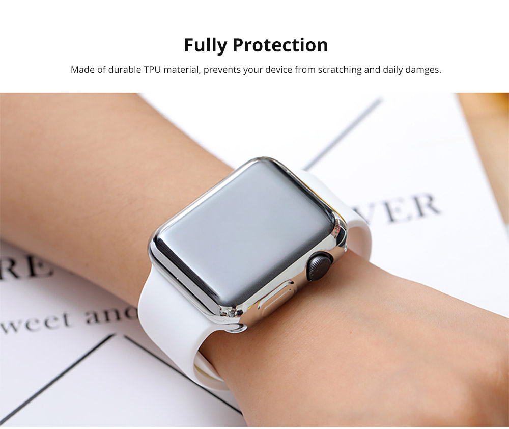 Superior Flexible TPU Protective Case Compatible with Apple iWatch Anti-impact Anti-Scratch Soft Cover for Apple iWatch 10