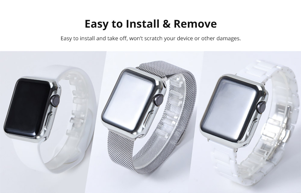 Superior Flexible TPU Protective Case Compatible with Apple iWatch Anti-impact Anti-Scratch Soft Cover for Apple iWatch 11