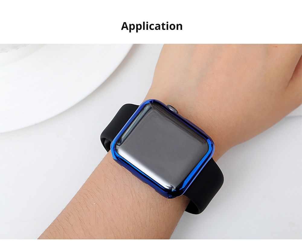 Superior Flexible TPU Protective Case Compatible with Apple iWatch Anti-impact Anti-Scratch Soft Cover for Apple iWatch 12