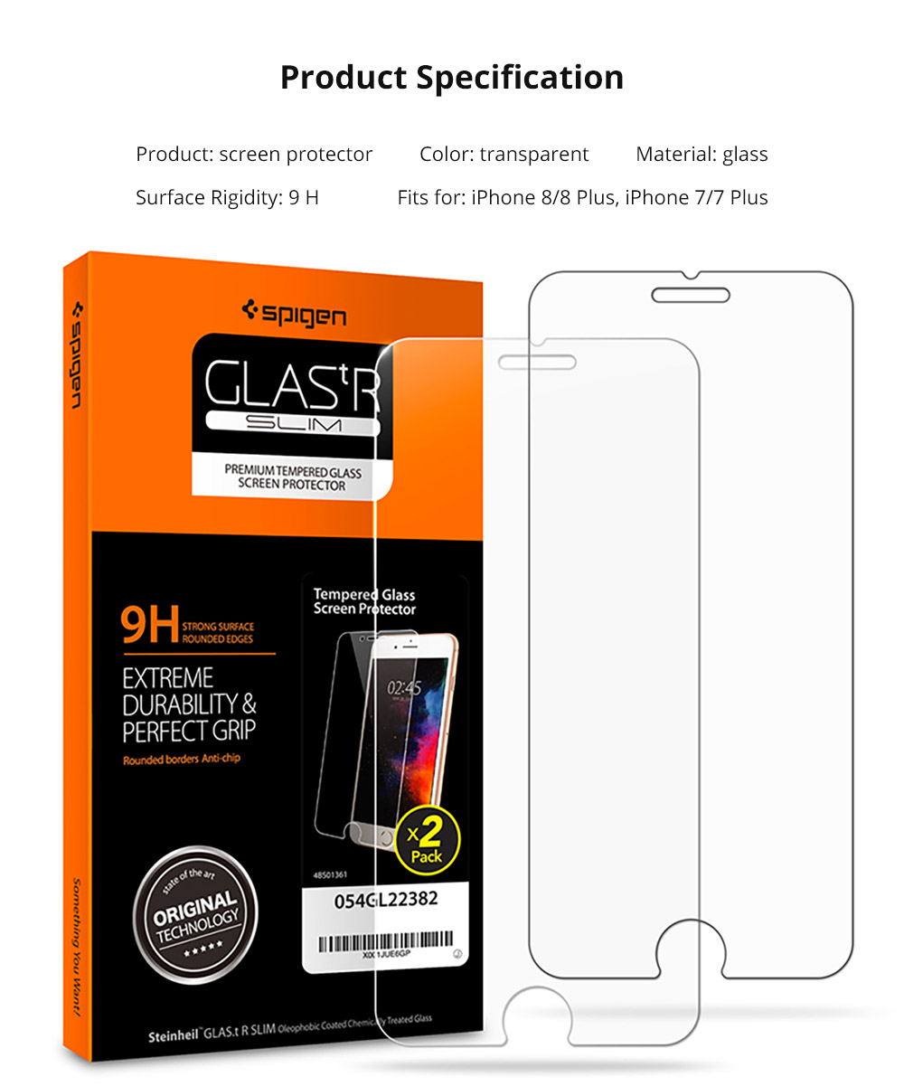 Phone Accessories Impact Shield Anti-glare Precise-align Perfect Fit Screen Protector for iPhone 8/8 Plus, iPhone 7/7 Plus Protective Screen 4.7-5.5 inch Skin Protector 15