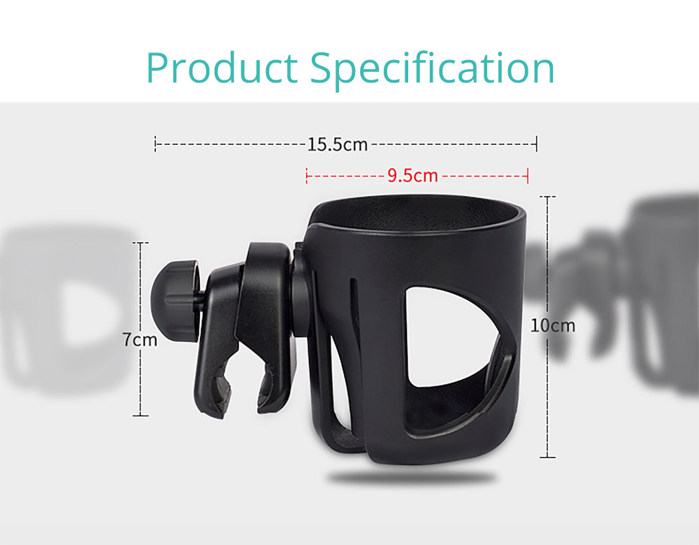 Stroller Accessories Superior ABS Anti-slid Adjustable Universal Stroller Cup Holder Baby Bottle Organizer Compatible with Baby Stroller 15