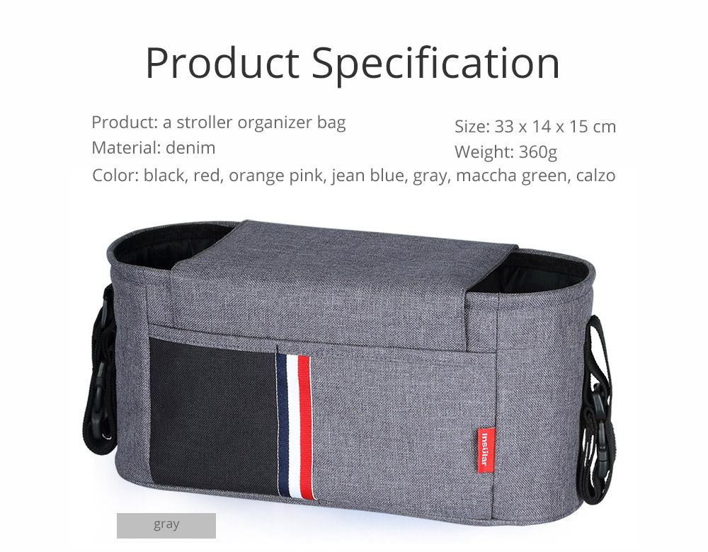Universal Stroller Organizer Bag with Multiple Pockets Phone Pocket and Insulated Cup Holder - Baby Stroller Accessories 13
