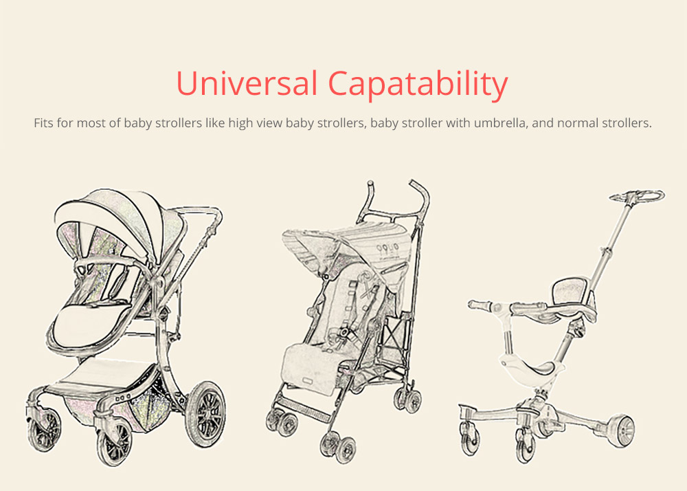 Portable Stroller Organizer Bag with Multiple Pockets Phone Pocket Insulated Cup Holder - Universal Multipurpose Baby Stroller Accessories 6