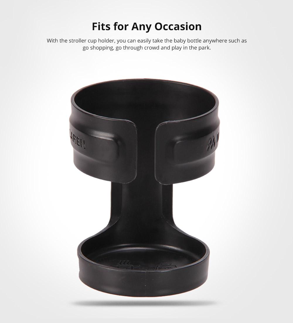Anti-slid Adjustable Stroller Cup Holder Baby Bottle Organizer, Premium ABS Stroller Accessories Compatible with Universal Baby Stroller 8