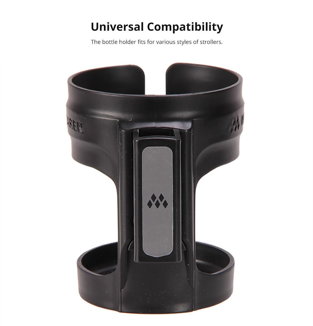 Anti-slid Adjustable Stroller Cup Holder Baby Bottle Organizer, Premium ABS Stroller Accessories Compatible with Universal Baby Stroller 10