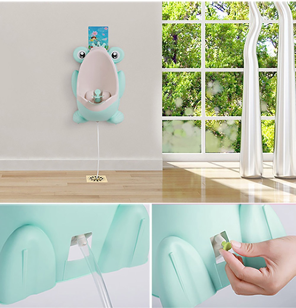 2 in 1 Unique Frog Toilet Trainer Boys Toilet Triaining Standup Potty Boys Mini Hanging Closestool Potty Training 8