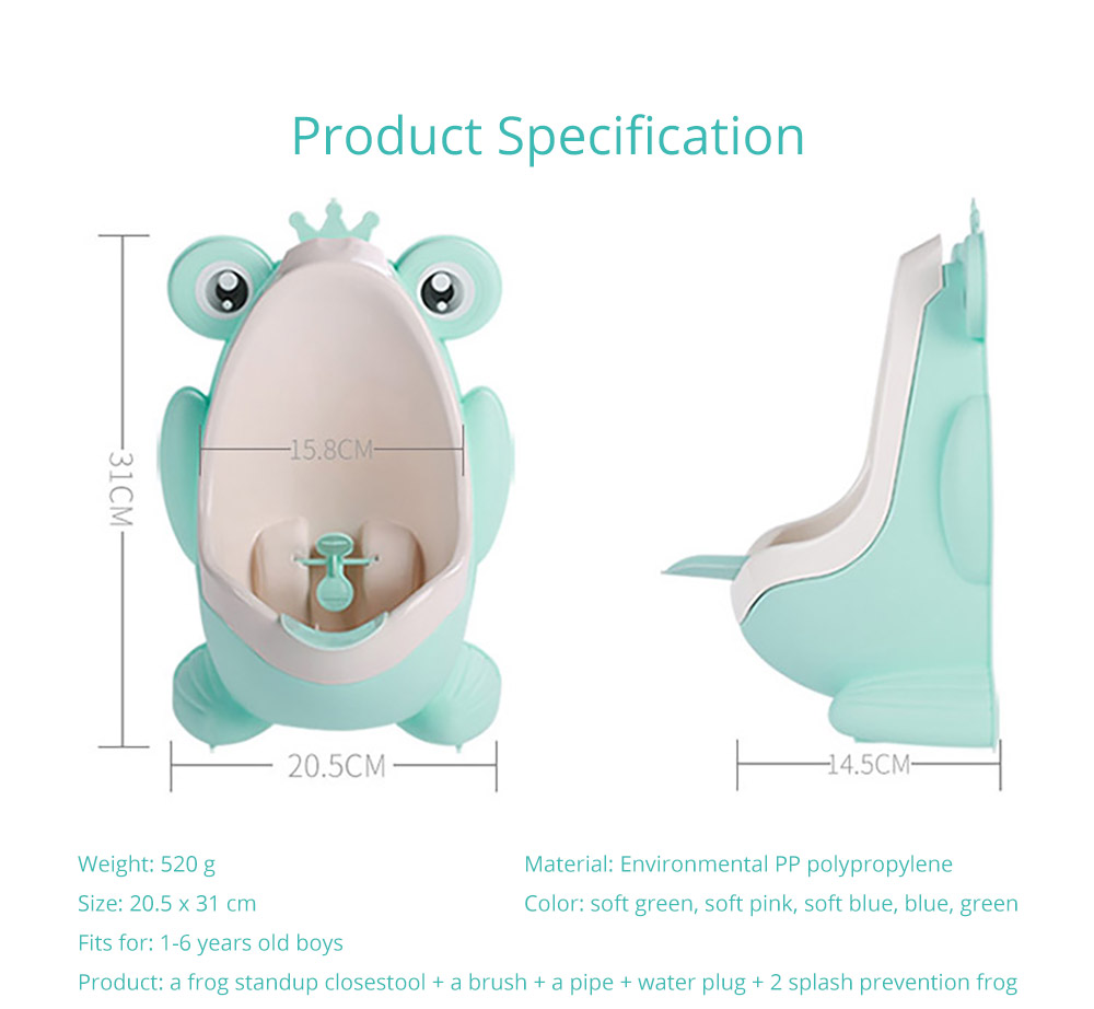 2 in 1 Unique Frog Toilet Trainer Boys Toilet Triaining Standup Potty Boys Mini Hanging Closestool Potty Training 13