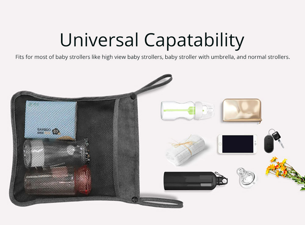 Portable Foldable Linen Stroller Organizer Bag with Multiple Compartments - Universal Multipurpose Stroller Accessories 6