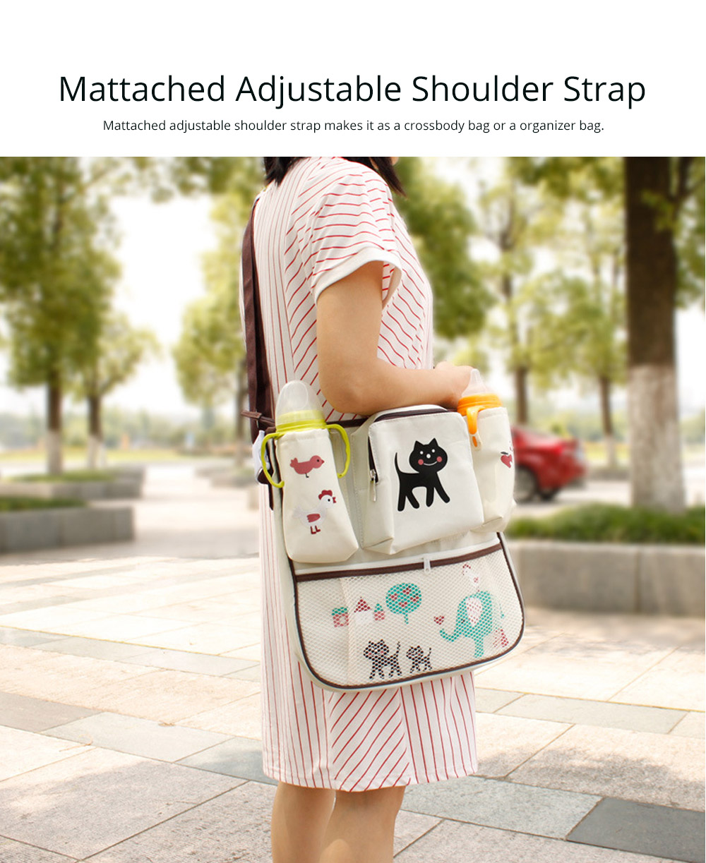 Durable Stroller Organizer Bag for Shipping or Walking, Universal Multipurpose Portable Stroller Organizer Bag with Multiple Compartments Compatible for Shipping Bags, Baby Carriages 13