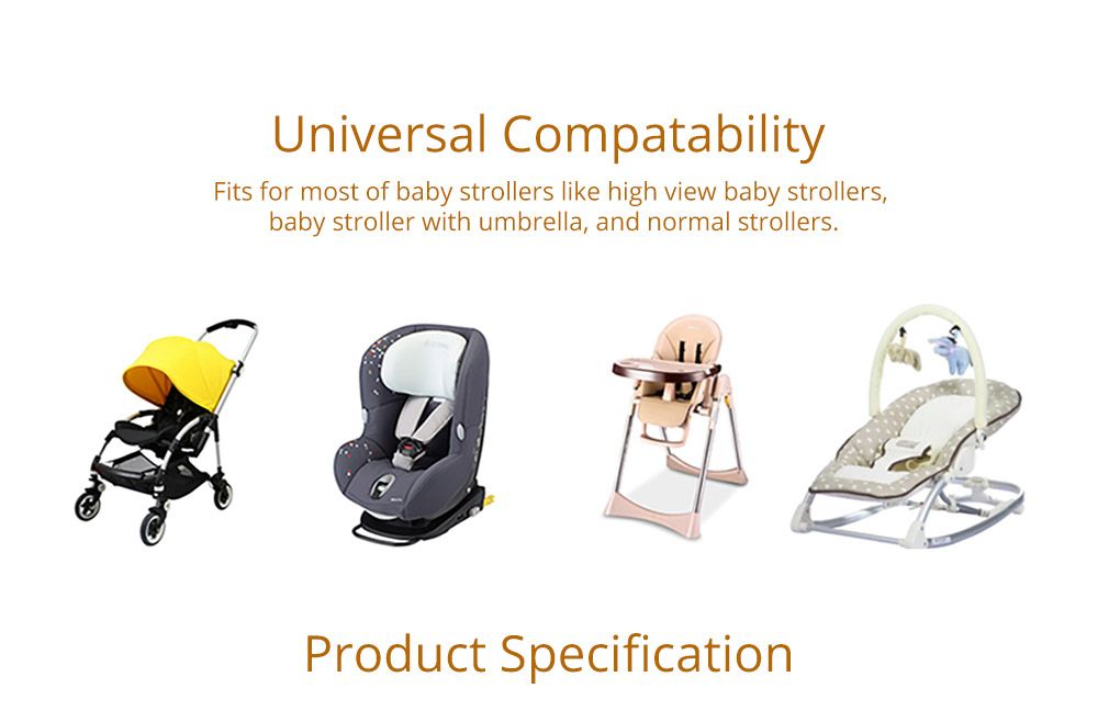 Baby Carriages Cotton Cushion, Baby Stroller Soft Pad Universal Baby Stroller Comfortable Protector Mat, Stroller Accessories Sleeping Cotton Mat 12