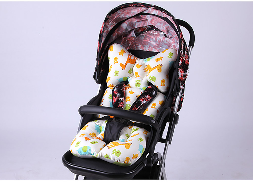 Baby Carriages Cotton Cushion, Baby Stroller Soft Pad Universal Baby Stroller Comfortable Protector Mat, Stroller Accessories Sleeping Cotton Mat 17