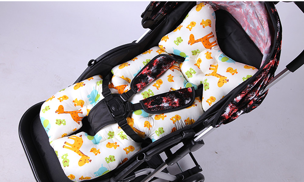 Baby Carriages Cotton Cushion, Baby Stroller Soft Pad Universal Baby Stroller Comfortable Protector Mat, Stroller Accessories Sleeping Cotton Mat 18